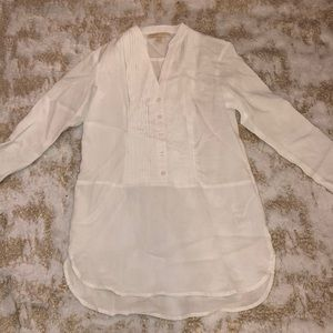 Michael Kors women's white button up